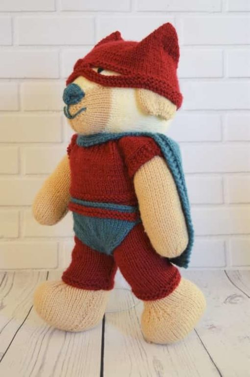 superhero knitting pattern