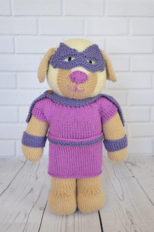 Girl superhero knitting pattern