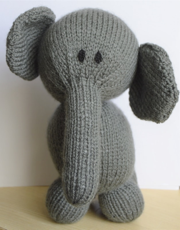 Elephant Soft Toy   Knitting by Post