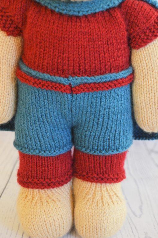 knitted superhero pattern