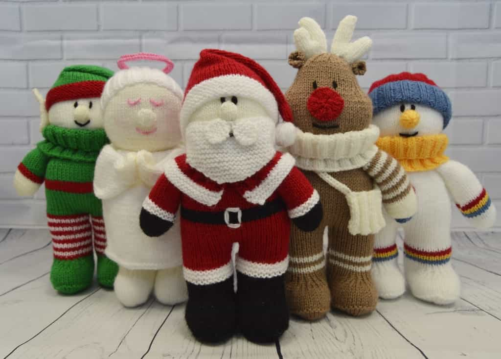 Festive Friends Collection Of 5 Knitting Patterns Knitting By Post