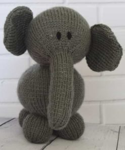 Elephant Soft Toy Knitting Pattern