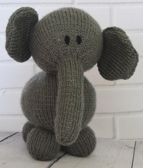 Elephant Knitting Pattern Knitting By Post