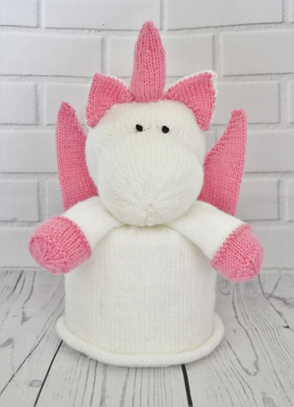 Unicorn Toilet Roll Cover Knitting Pattern Knitting By Post