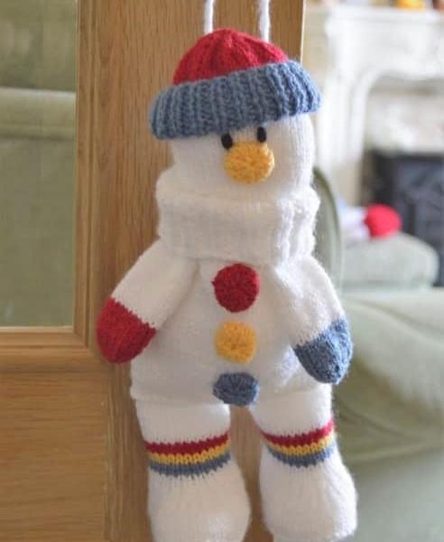 Snowman baggles gift bag