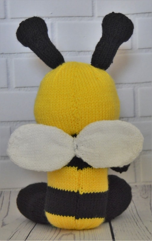 Bee Soft Toy Knitting Pattern Knitting By Post
