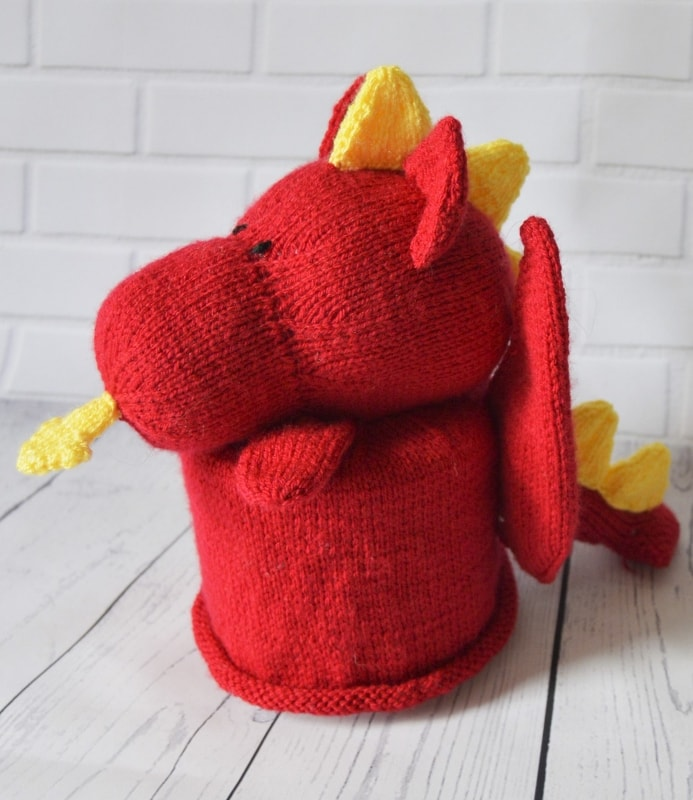 Dragon Toilet Roll Cover Knitting Pattern – Knitting by Post