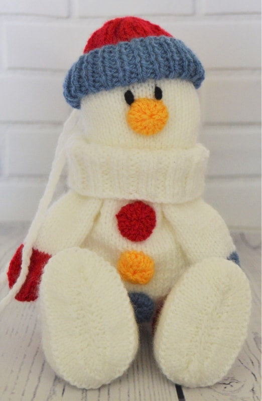 Snowman Baggles Gift Bag • Knitting by Post