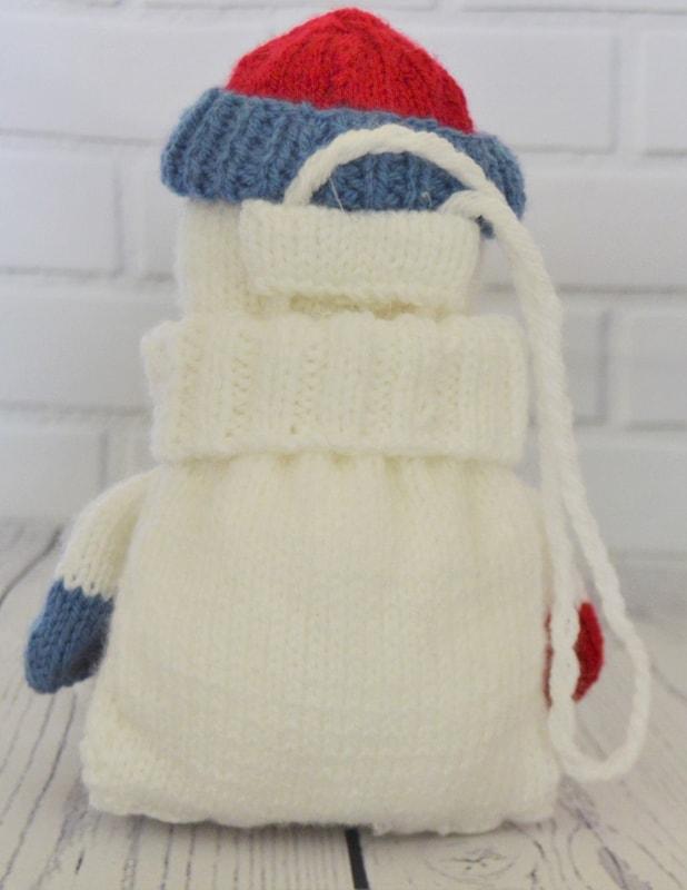 Snowman Cushion Knitting Pattern : Snowman Baggles Gift Bag   Knitting by Post
