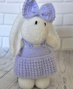 knitted rabbit pattern