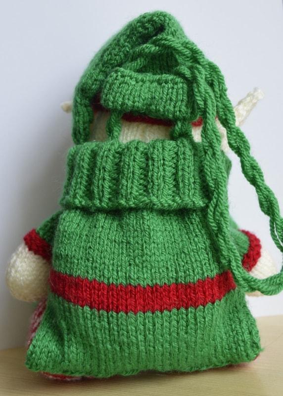 Knitting Pattern For Xmas Elf : Elf Baggles Gift Bag   Knitting by Post