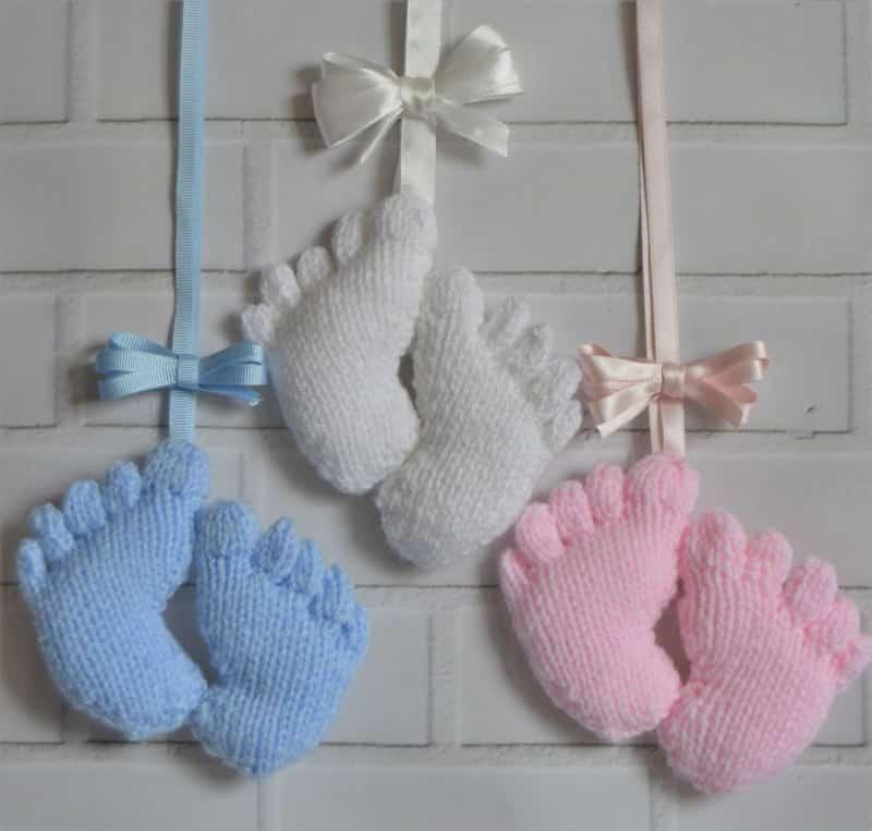Baby Feet Charm Knitting Pattern Toy Knitting Pattern Knitting By Post