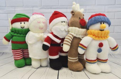 Festive Friends Santa angel reindeer elf snowman