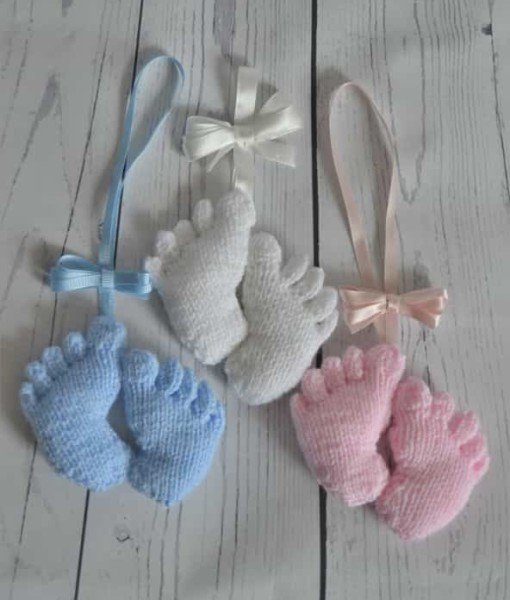 Knitted baby feet
