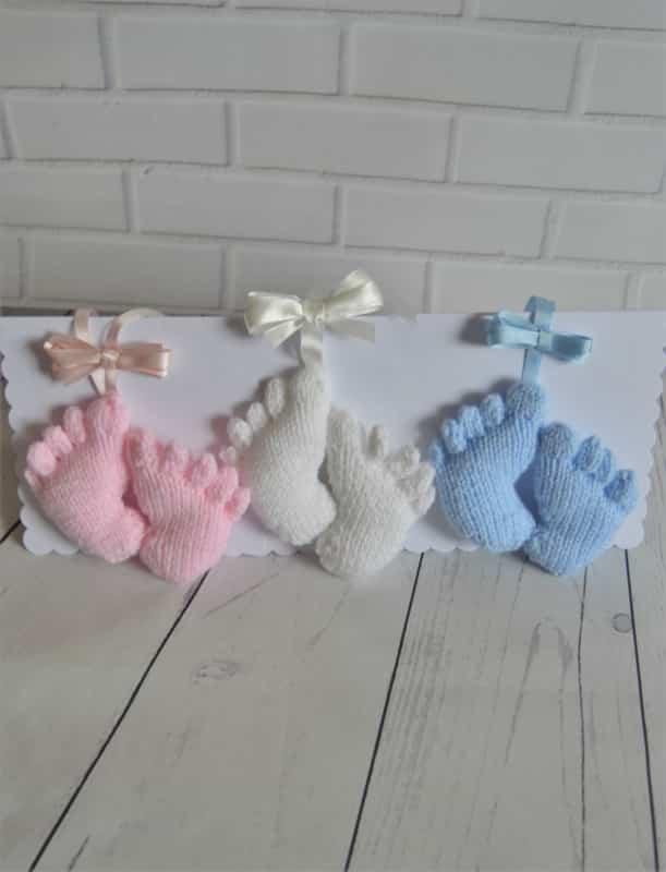 Baby Feet Charm Knitting Pattern Toy Knitting Pattern ...
