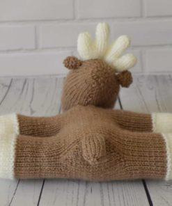 knitted reindeer
