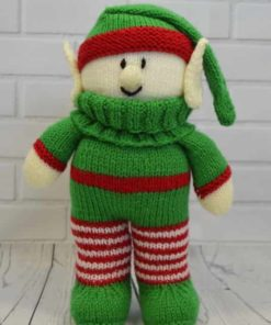 Elf knitting pattern festive friend