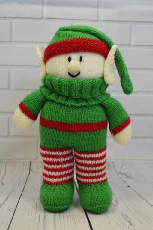 Elf knitting pattern festive friend