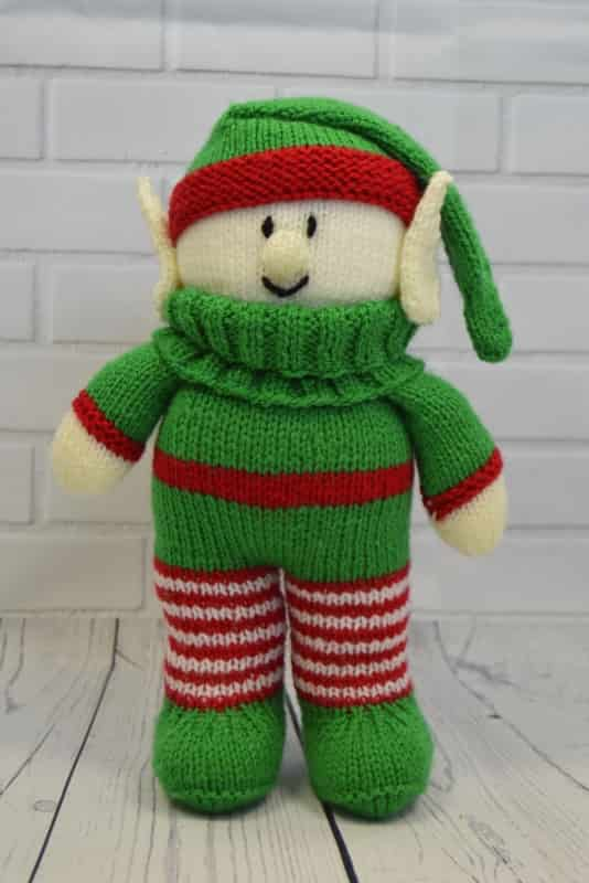 Knitted Elf Pattern : Festive Friends   Elf Knitting Pattern   Knitting by Post