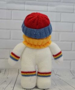 snowman knitting pattern back soft toy