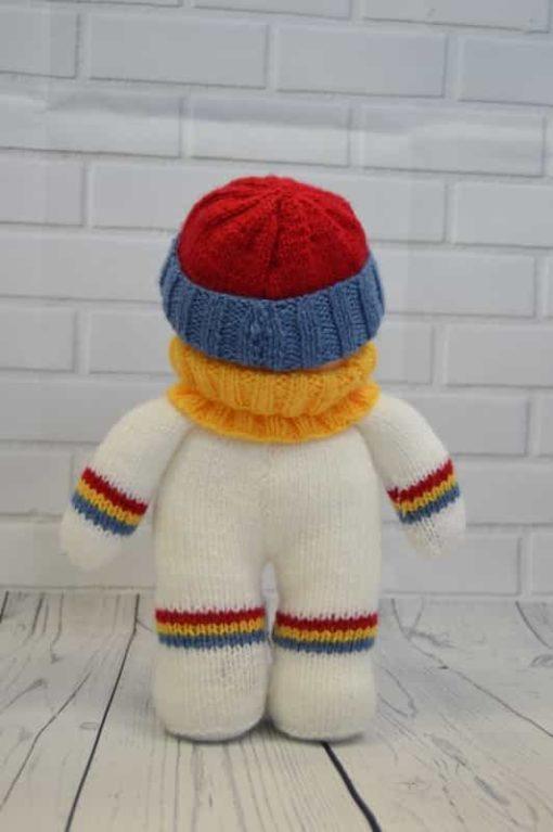 snowman knitting pattern back soft toy