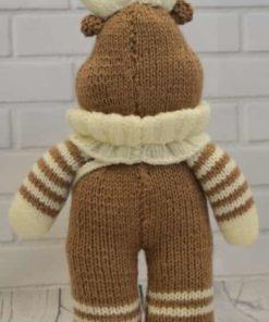 reindeer knitted back