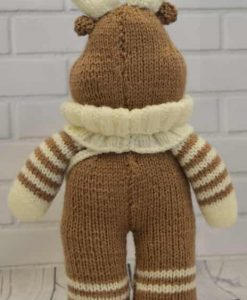 reindeer knitted back