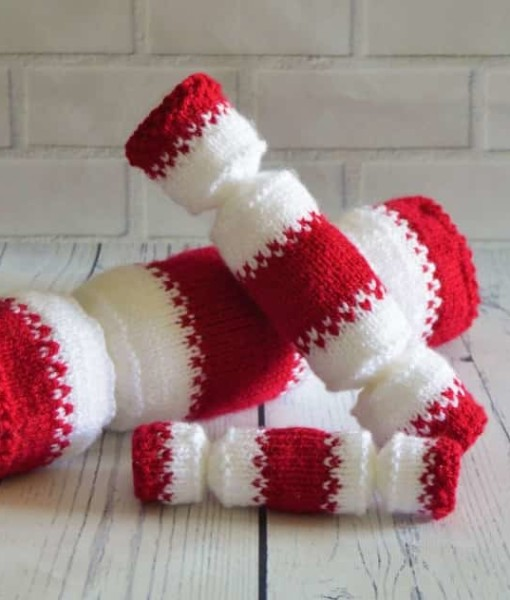 Knitting Patterns Christmas : Christmas Cracker Trio   Knitting by Post