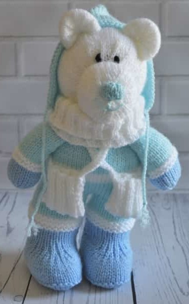 Winter Bear Knitting Pattern