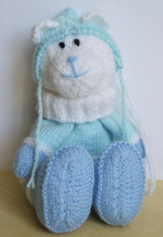 Winter Bear Baggles Gift Bag Knitting By Post
