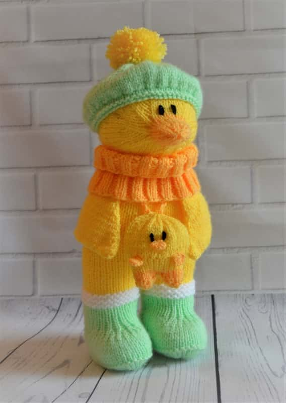 ae3e35e46 Duck in Boots Knitting Pattern Toy Knitting Pattern - Knitting by Post