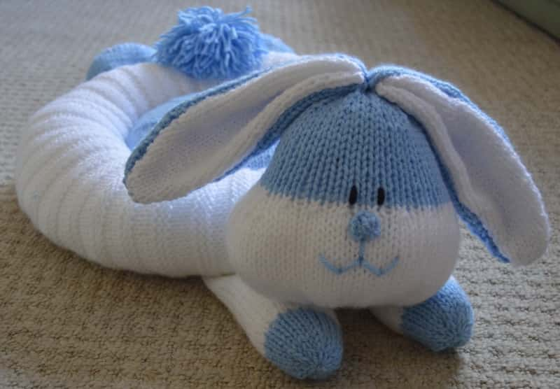 Knitting Patterns For Pet Rabbits : Rabbit Snuggler Pet Bed   Knitting by Post