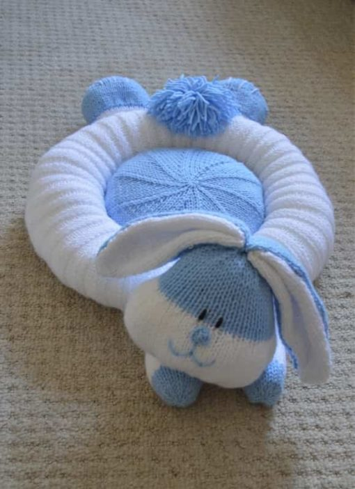 knitted bunny bed