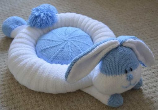 knitted rabbit bed