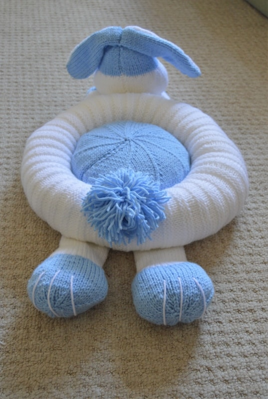Rabbit Snuggler Pet Bed   Knitting by Post