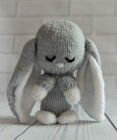 Knit Patterns Infinity Scarf : Baby Bunny Toy Knitting Pattern   Knitting by Post