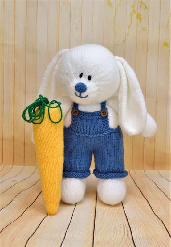 Bunny Rabbit Knitting Pattern : The Carrot Farmer   Knitting by Post