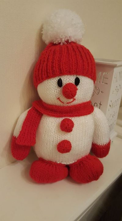 Added pom-pom and feet to the doorstop snowman thanks for adding me xx