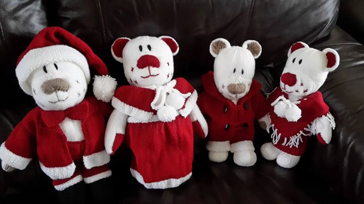 All done Christmas Bear family
