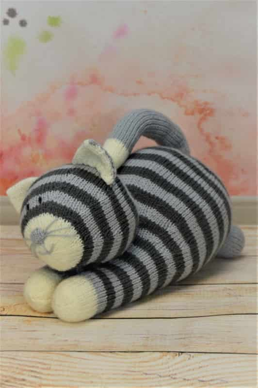 Playful Cat Knitting By Post