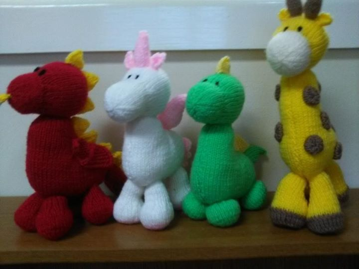 Four little knits. So sweet. Enjoyed knitting them.