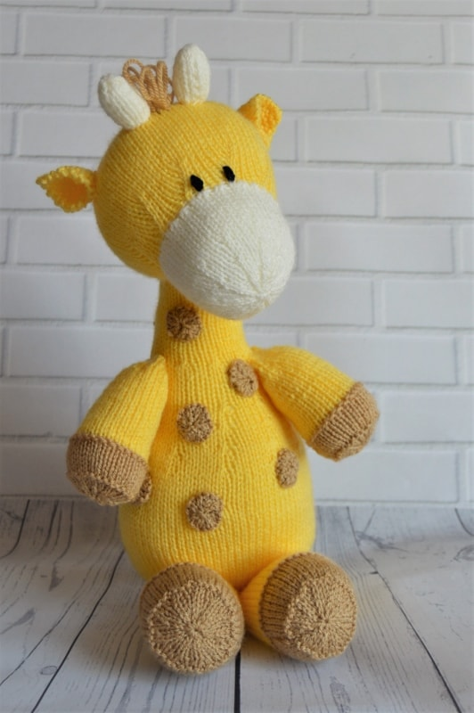 Knitting Pattern Giraffe : Raf the Giraffe Softie   Knitting by Post