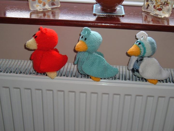 Some wacky coloured scramble ducks.think I prefer it in yellow though.