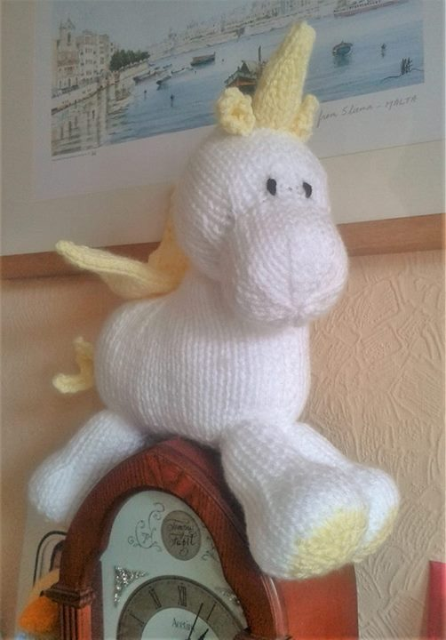 Unicorn Keeps Flying Around The Room She Has Landed On Top Of The