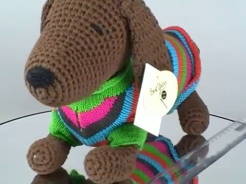 Knitting Patterns For Sausage Dogs : Knitted Sausage Dog in Jumper   Knitting by Post