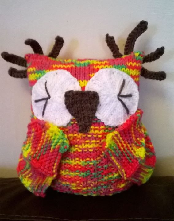 Knitting By Post Owl : Another owl done knitting by post