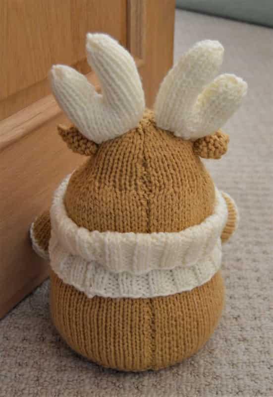 Reindeer Knitting Patterns : Reindeer Doorstop   Knitting by Post