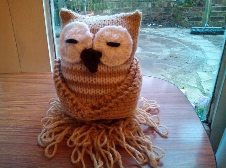 Knitting By Post Owl : My little owl knitting by post