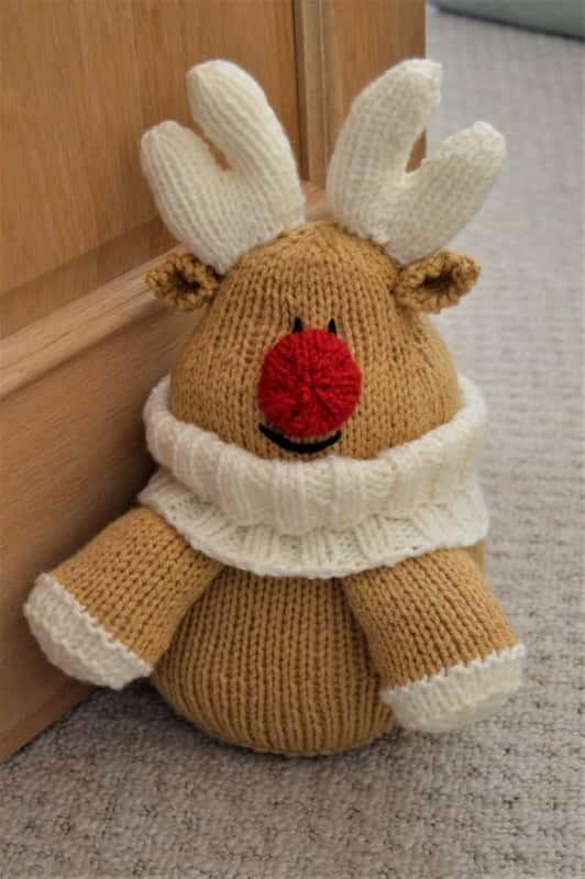 Reindeer Knitting Pattern Free : Reindeer Doorstop   Knitting by Post