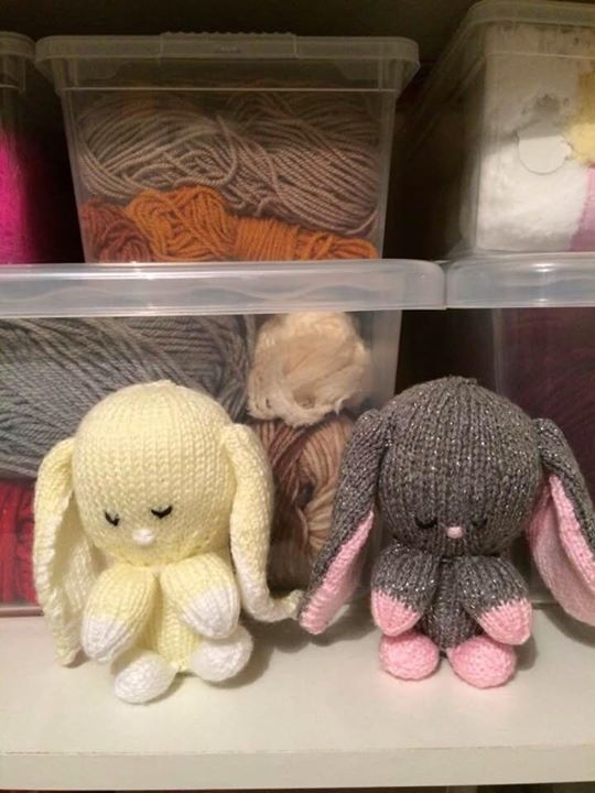 The lemon one is my granddaughters she calls it her 'cute little bunny', the grey one now lives in my craft room, love them.